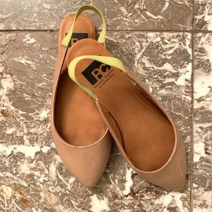 BC Footwear Nude Leather Flats